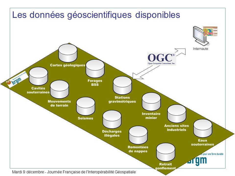 Les données géoscientifiques disponibles
