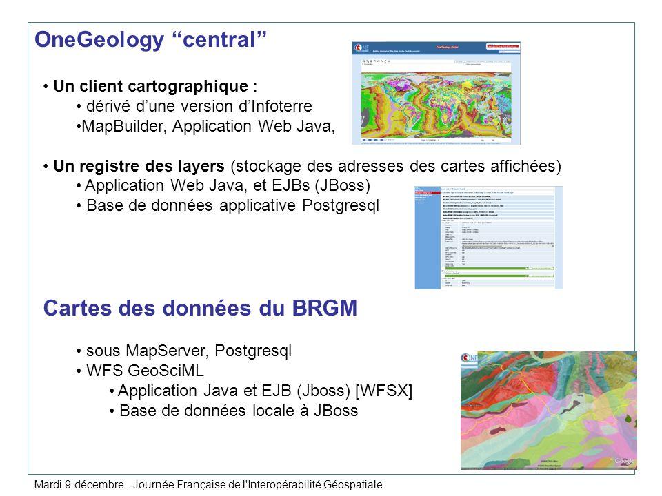 Cartes des données du BRGM