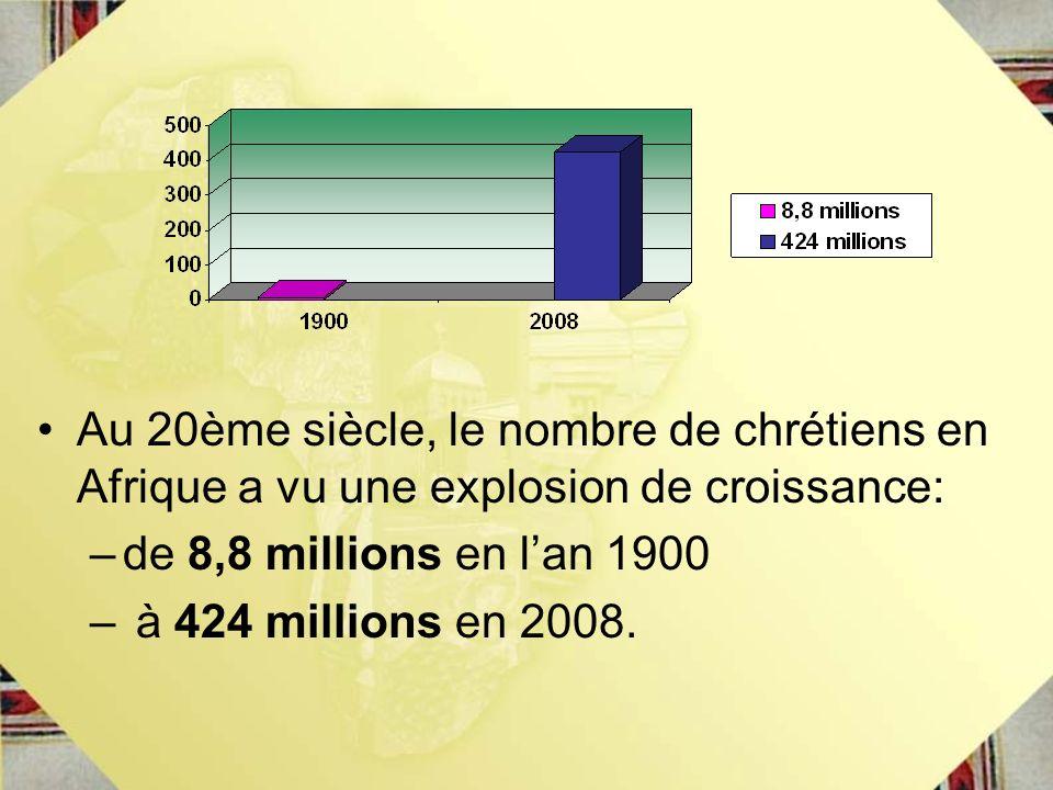 Au 20ème siècle, le nombre de chrétiens en Afrique a vu une explosion de croissance: