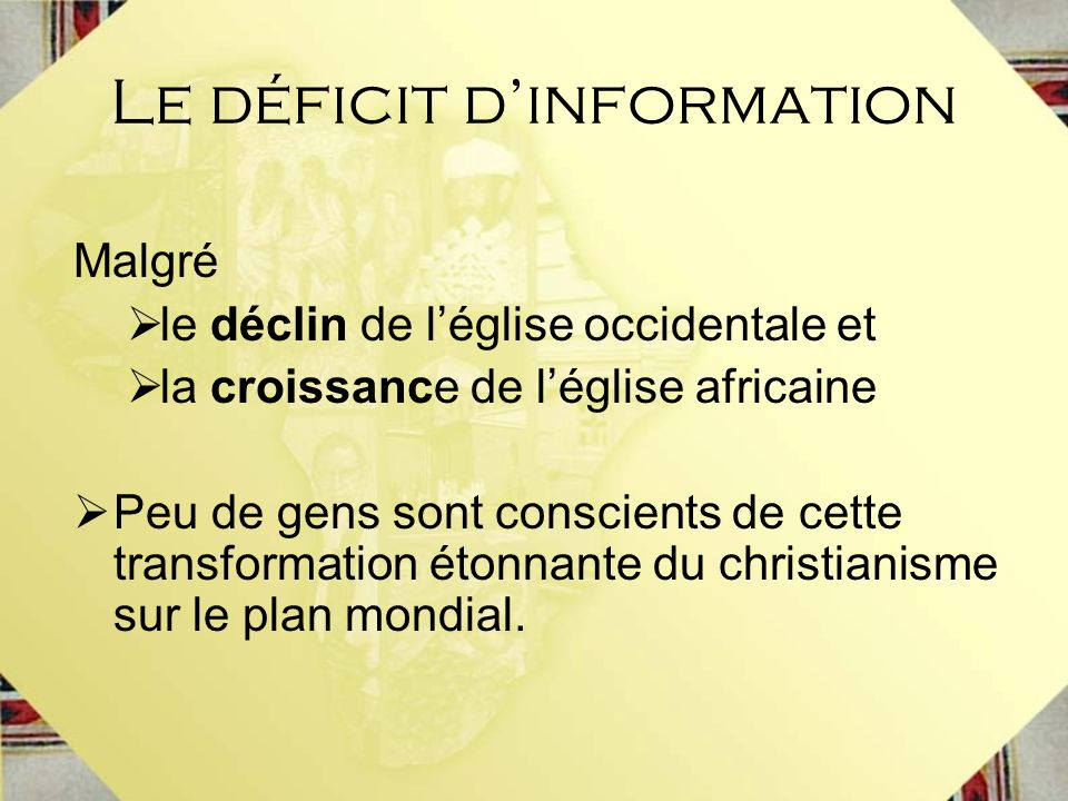Le déficit d'information
