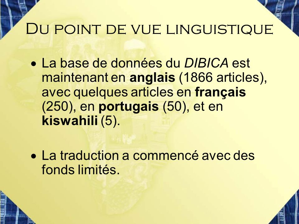Du point de vue linguistique