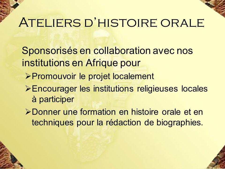 Ateliers d'histoire orale