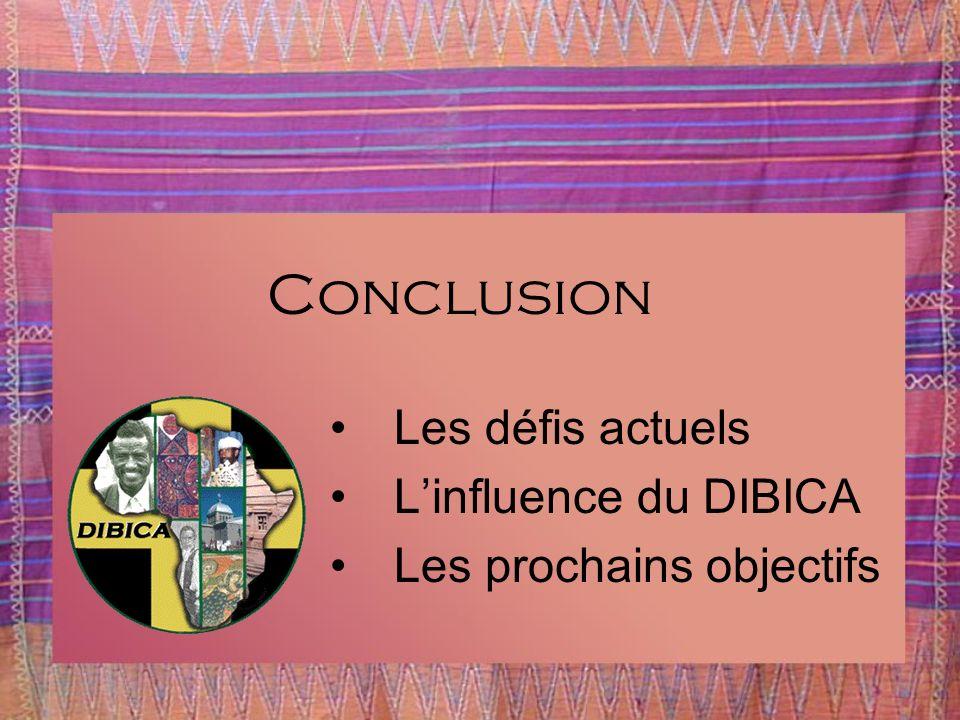 Conclusion Les défis actuels L'influence du DIBICA