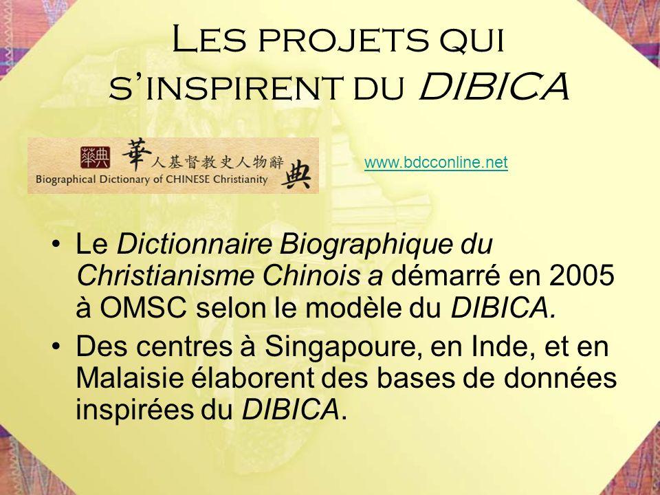 Les projets qui s'inspirent du DIBICA