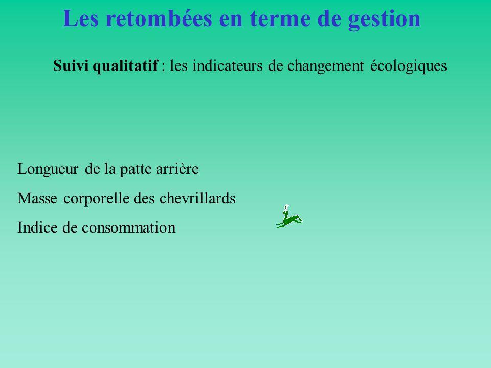 Suivi qualitatif : les indicateurs de changement écologiques