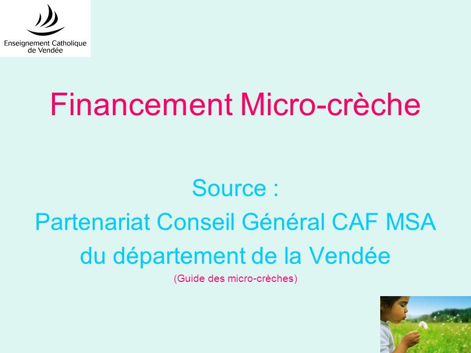 Financement Micro-crèche