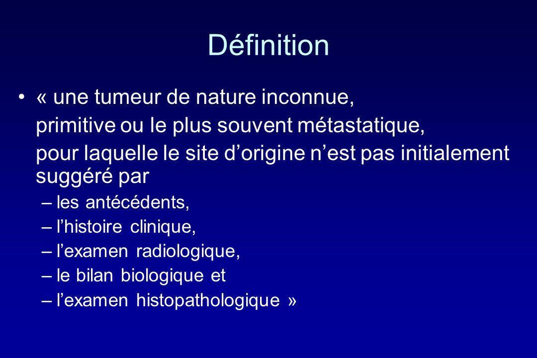 Définition « une tumeur de nature inconnue,