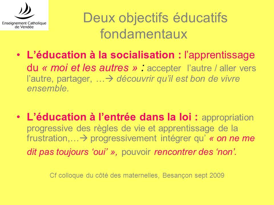 Deux objectifs éducatifs fondamentaux