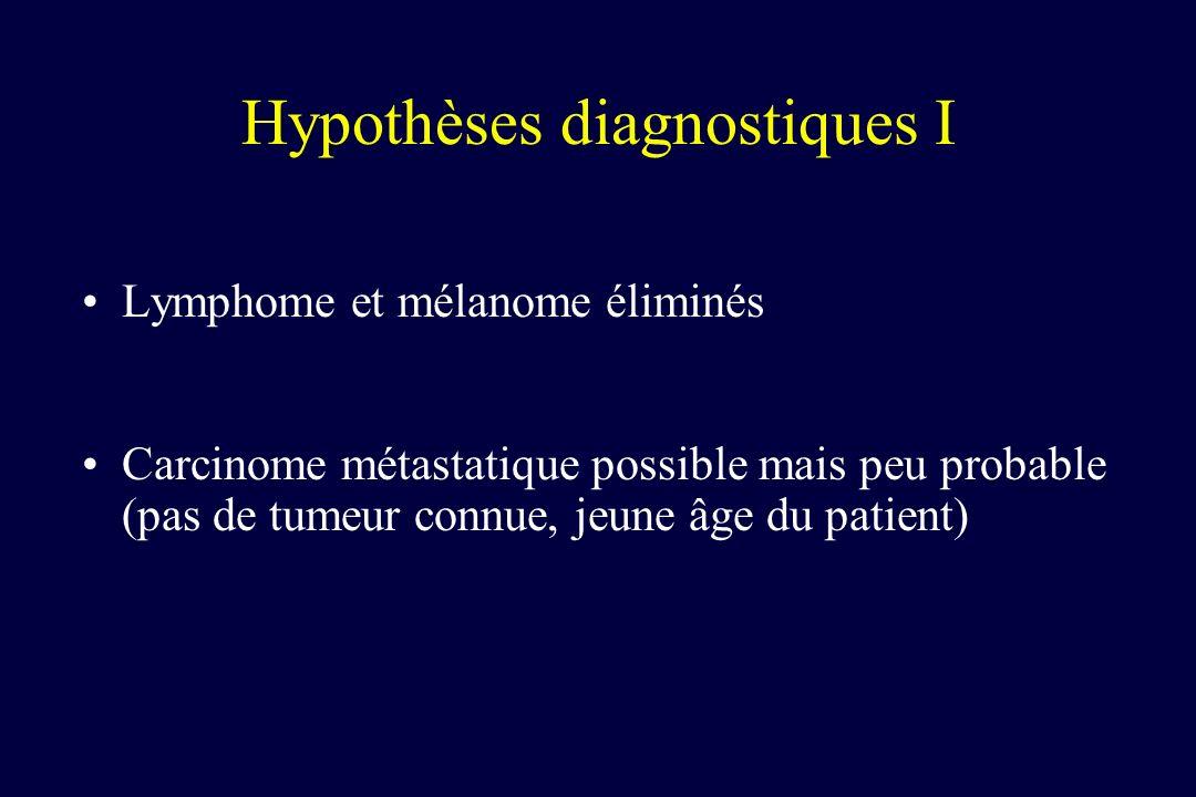 Hypothèses diagnostiques I