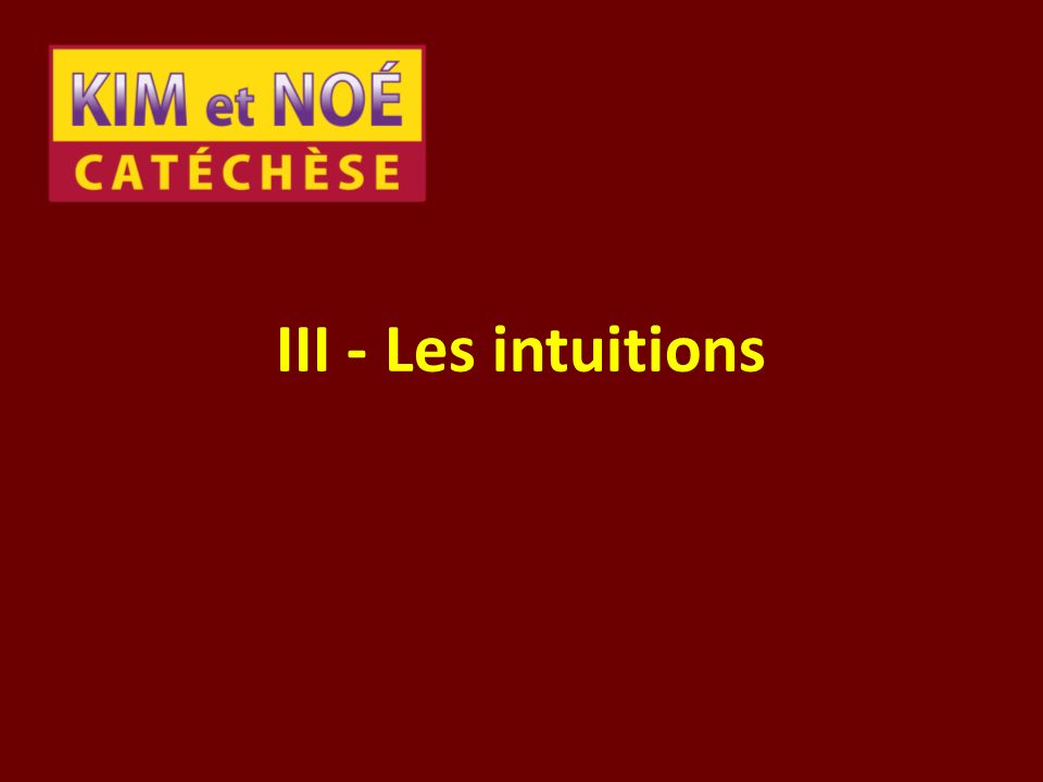 III - Les intuitions