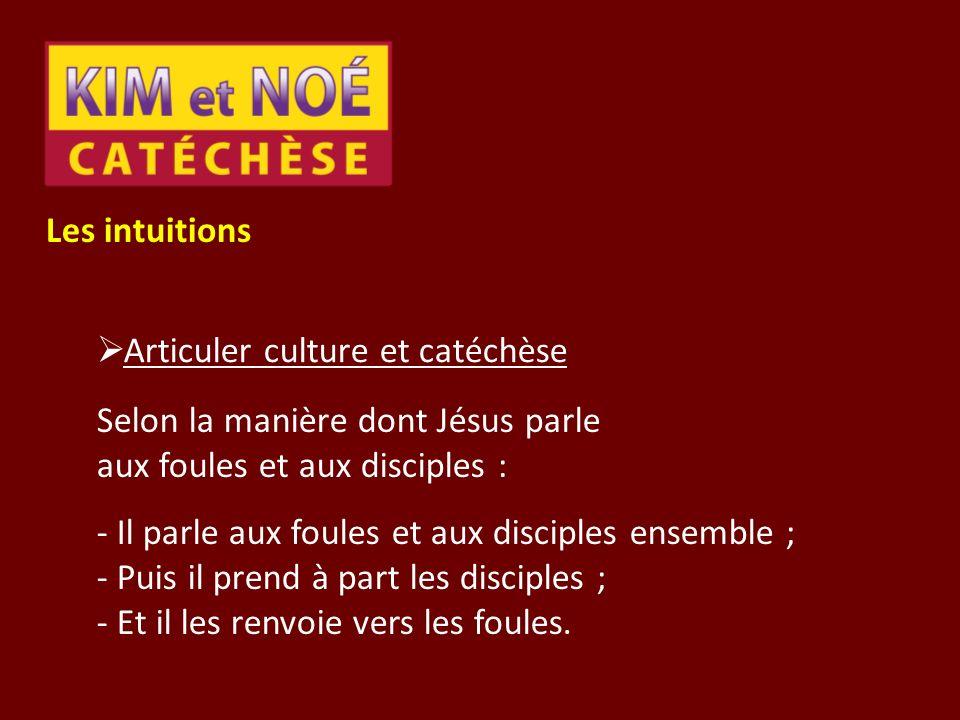 Les intuitions Articuler culture et catéchèse.