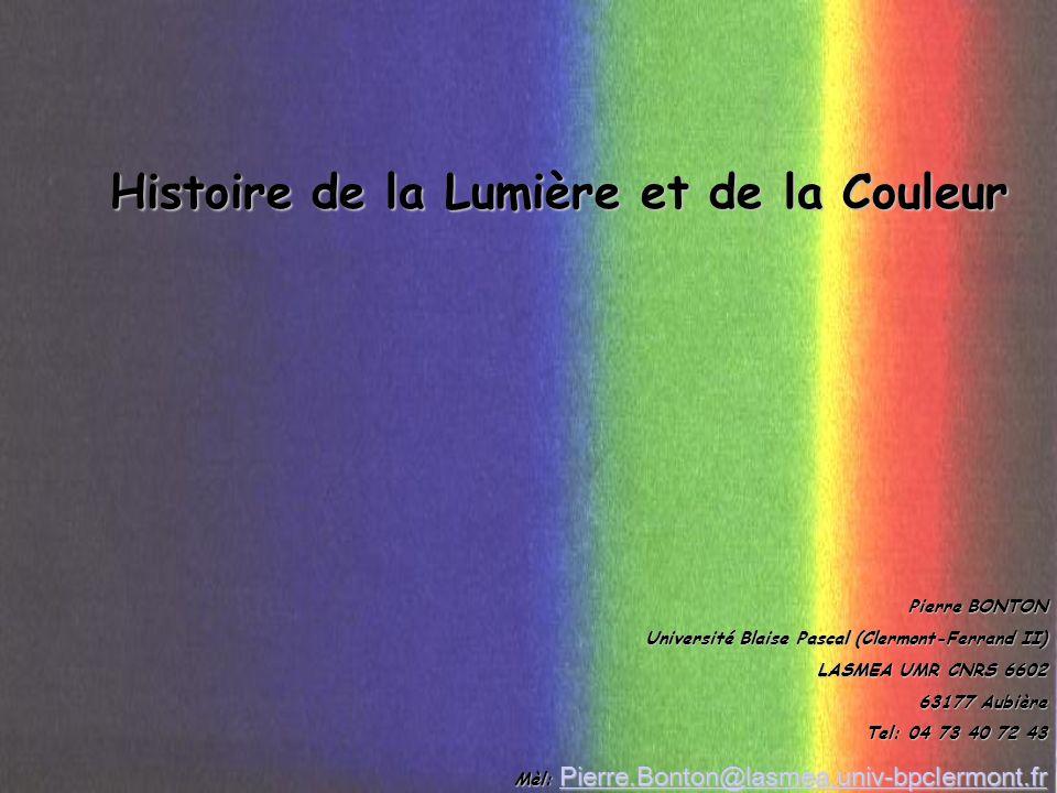 Histoire de la Lumière et de la Couleur