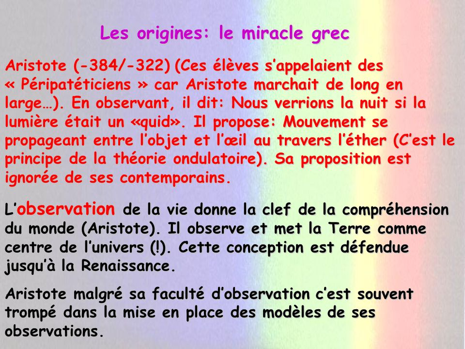 Les origines: le miracle grec