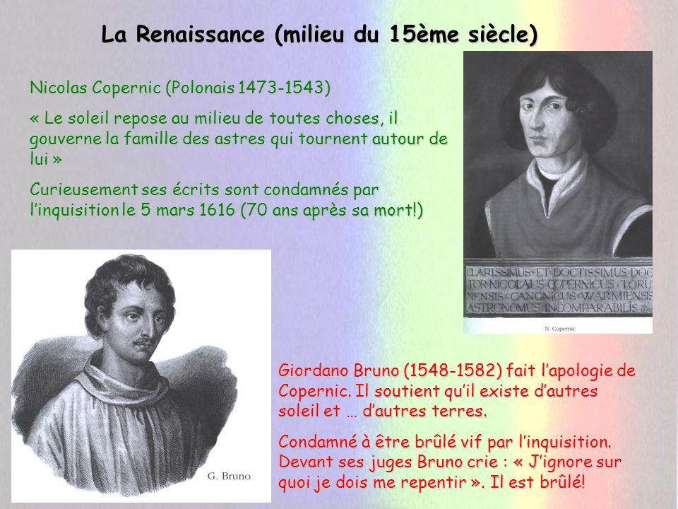 La Renaissance (milieu du 15ème siècle)