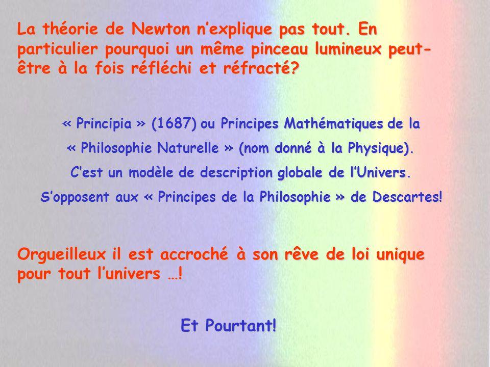 La théorie de Newton n'explique pas tout