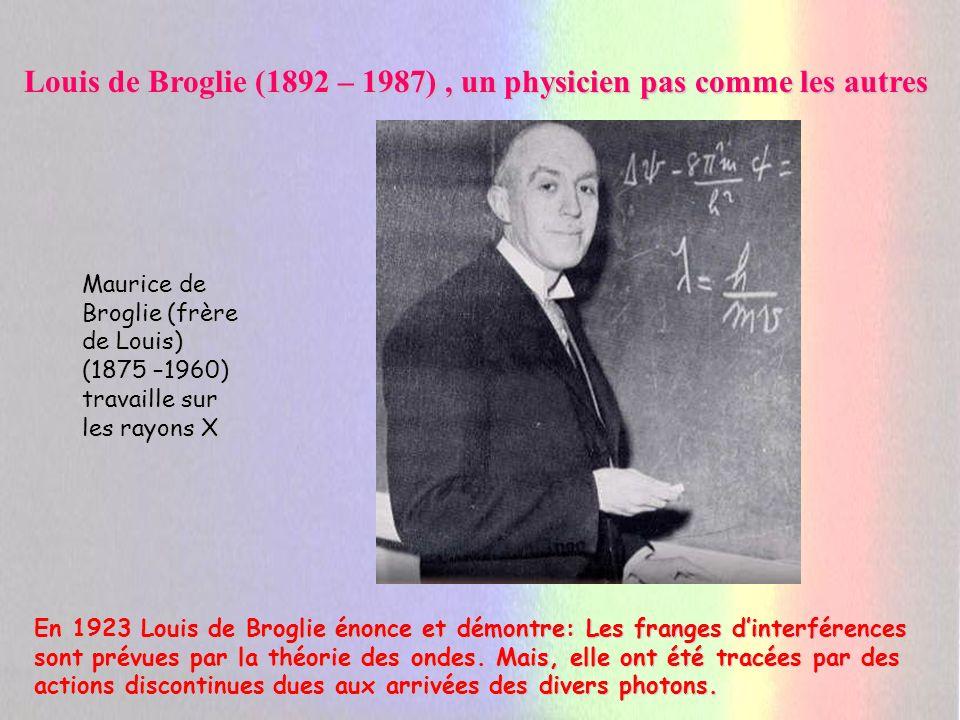 Louis de Broglie (1892 – 1987) , un physicien pas comme les autres