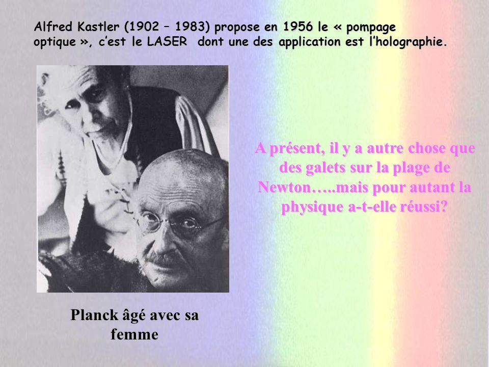 Planck âgé avec sa femme