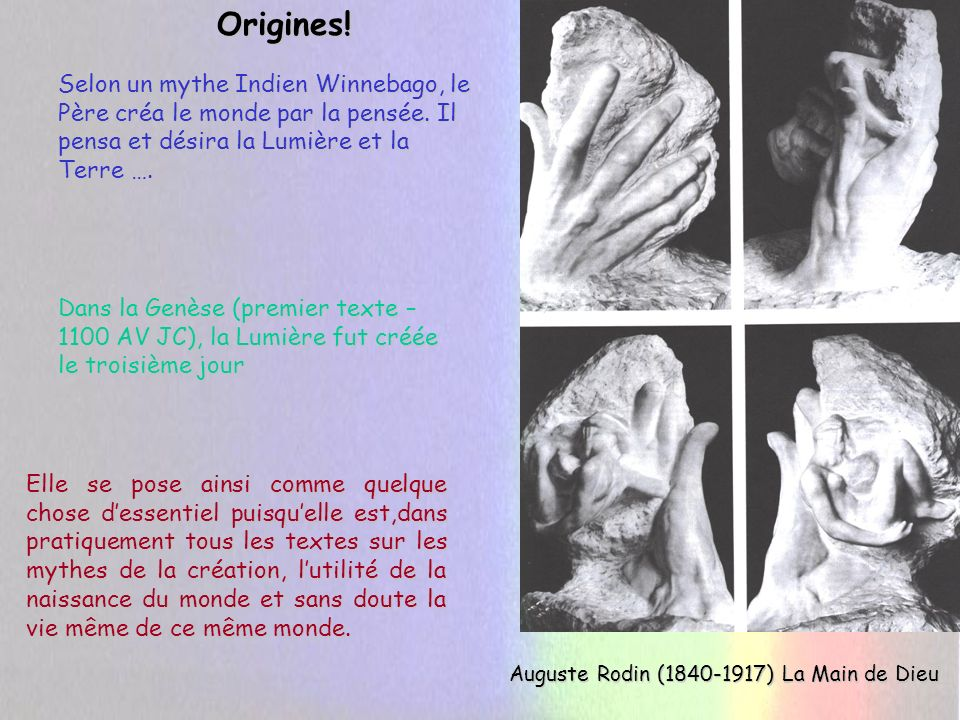 Auguste Rodin (1840-1917) La Main de Dieu