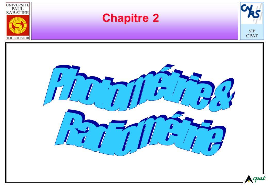 Chapitre 2 Photométrie & Radiométrie