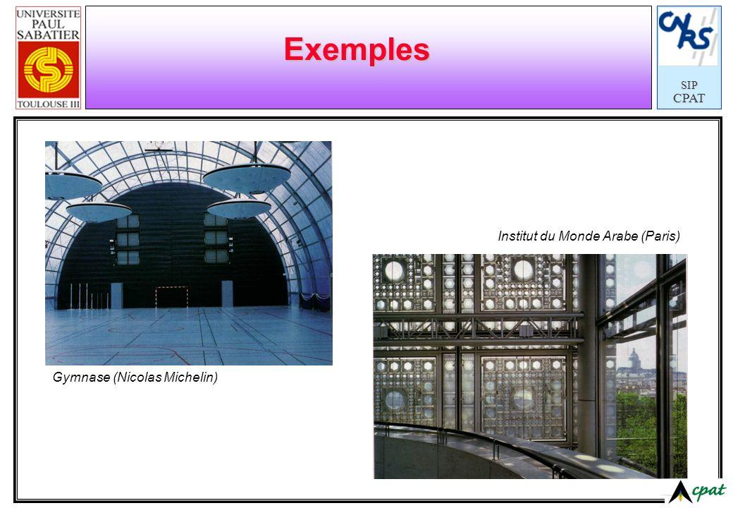 Exemples Institut du Monde Arabe (Paris) Gymnase (Nicolas Michelin)