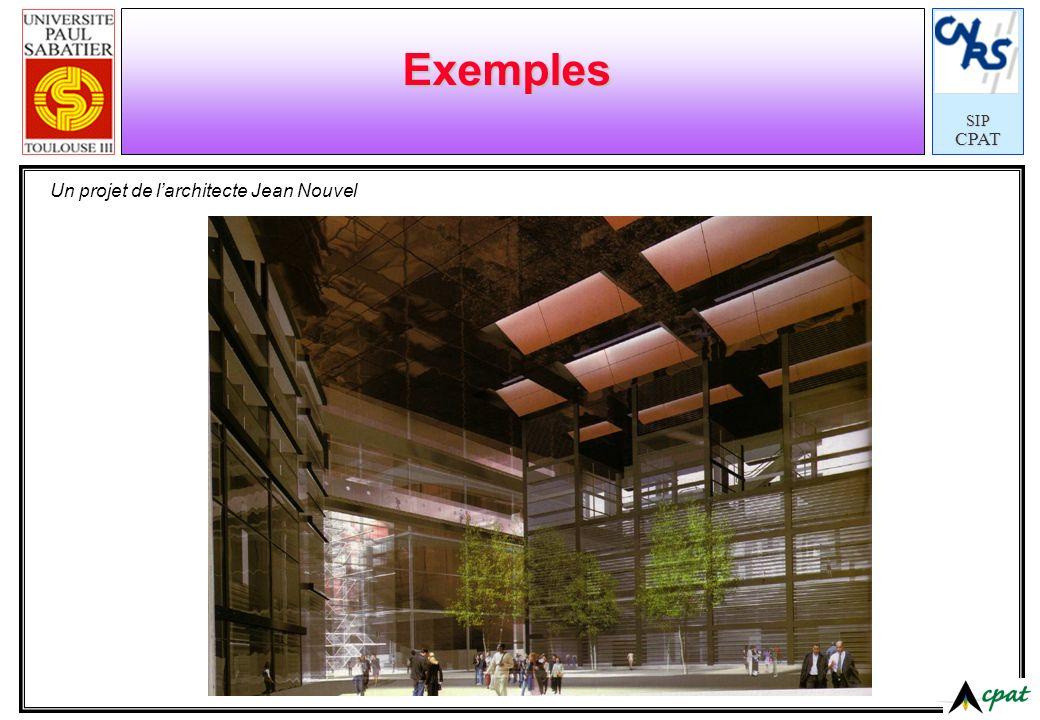 Exemples Un projet de l'architecte Jean Nouvel