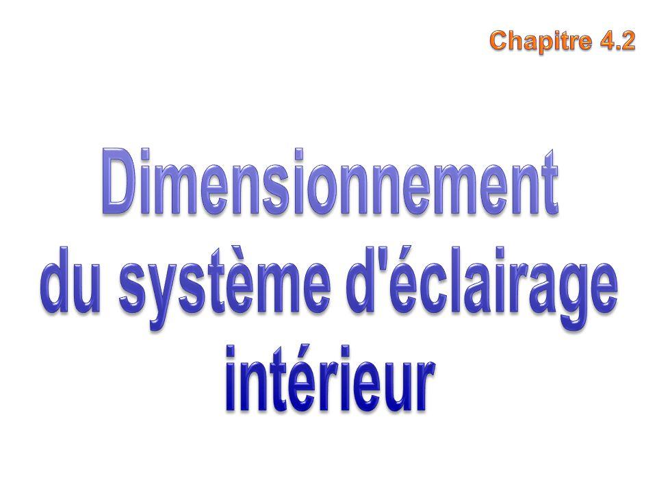 Dimensionnement du système d éclairage intérieur