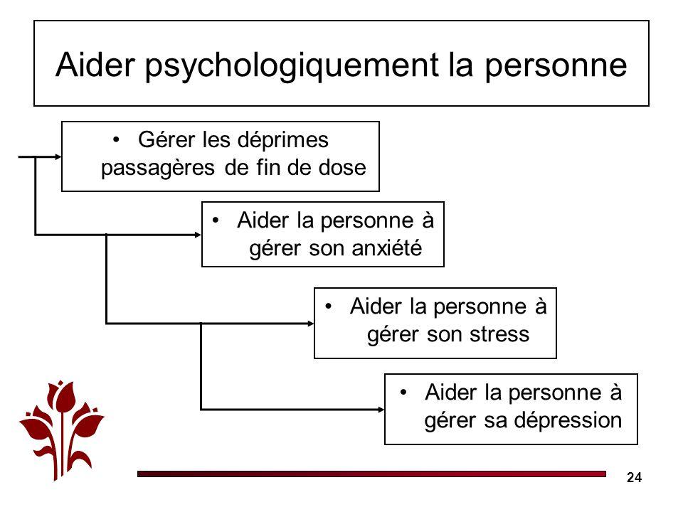 Aider psychologiquement la personne