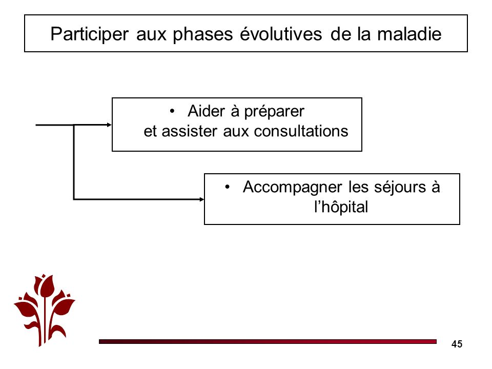 Participer aux phases évolutives de la maladie