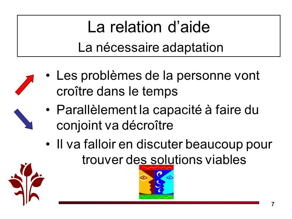 La relation d'aide La nécessaire adaptation