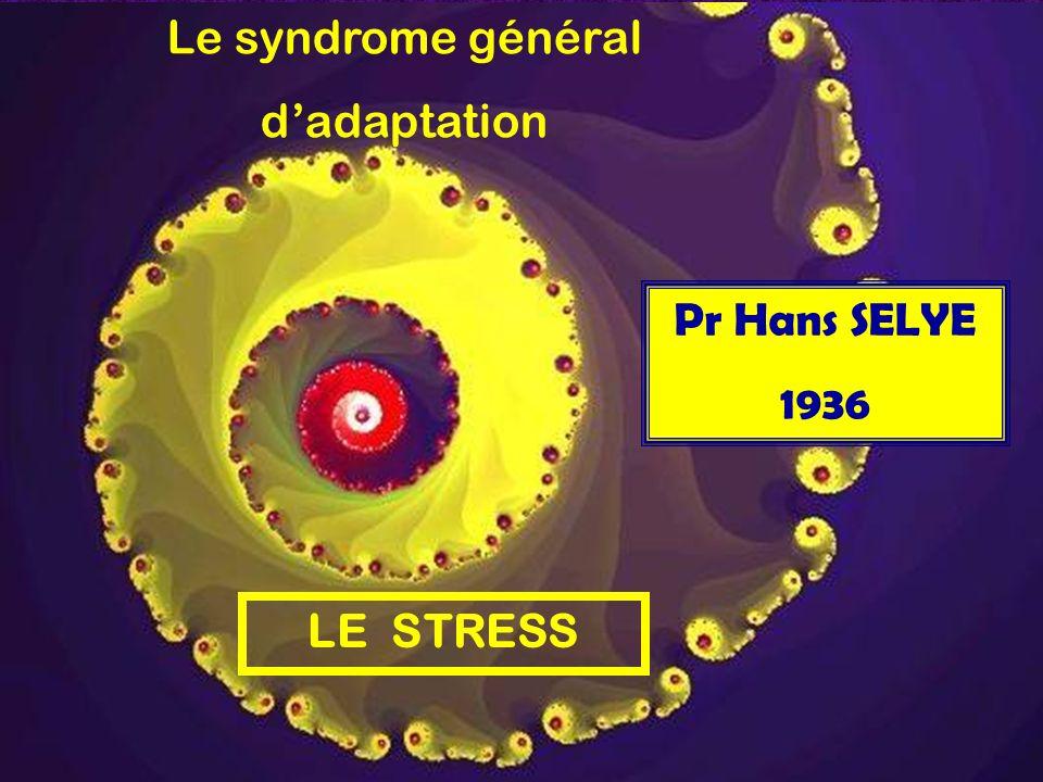 Le syndrome général d'adaptation Pr Hans SELYE 1936 LE STRESS