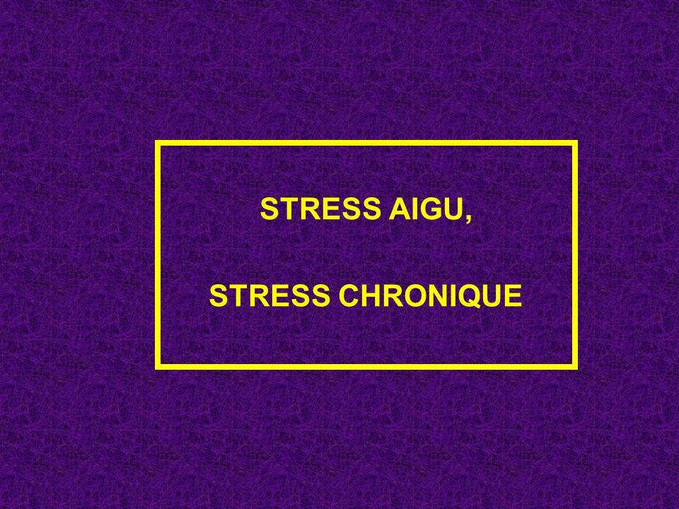 STRESS AIGU, STRESS CHRONIQUE