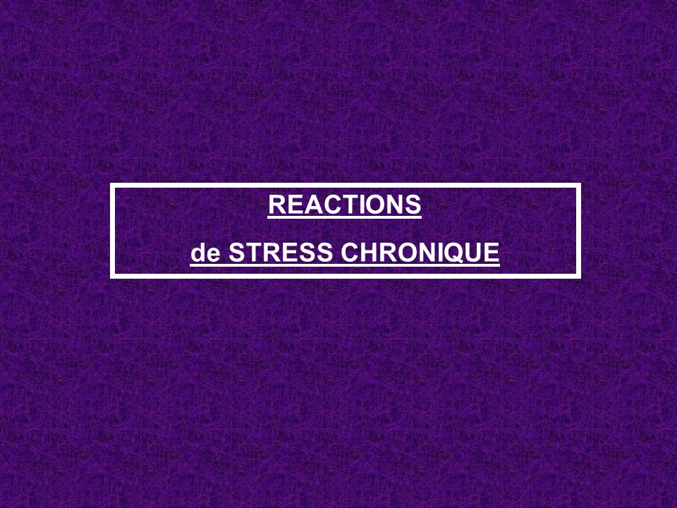 REACTIONS de STRESS CHRONIQUE