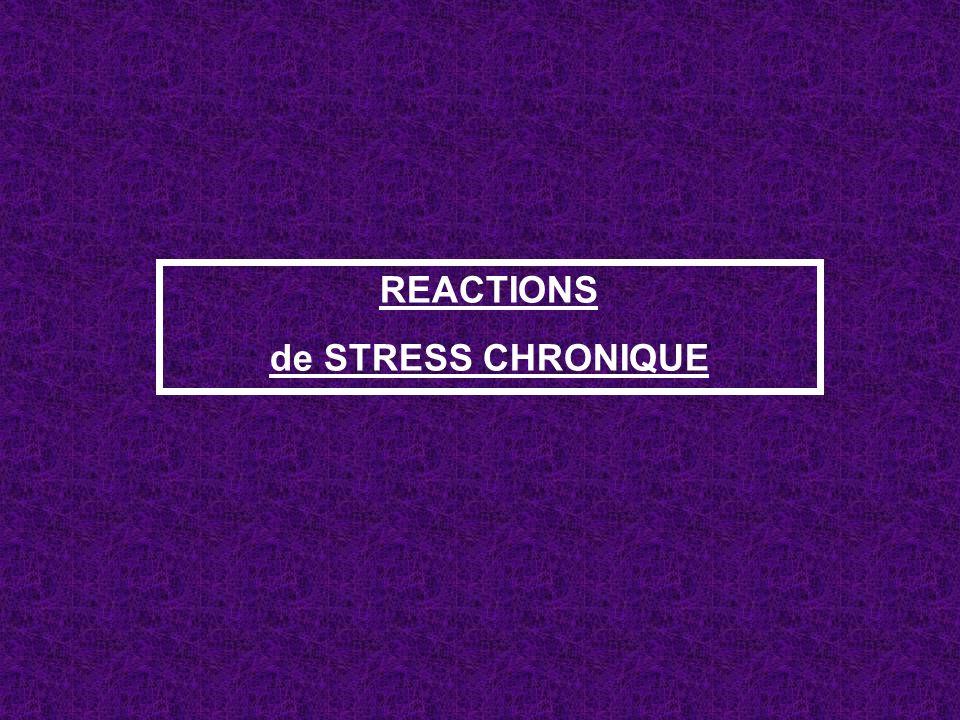 REACTIONS de STRESS CHRONIQUE