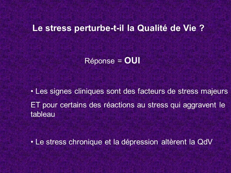 Le stress perturbe-t-il la Qualité de Vie