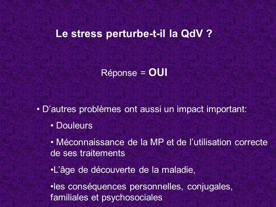 Le stress perturbe-t-il la QdV