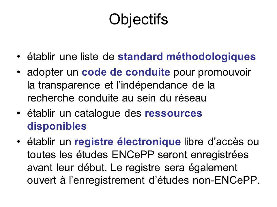 Objectifs établir une liste de standard méthodologiques