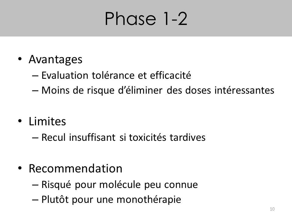 Phase 1-2 Avantages Limites Recommendation