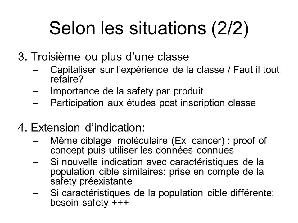 Selon les situations (2/2)