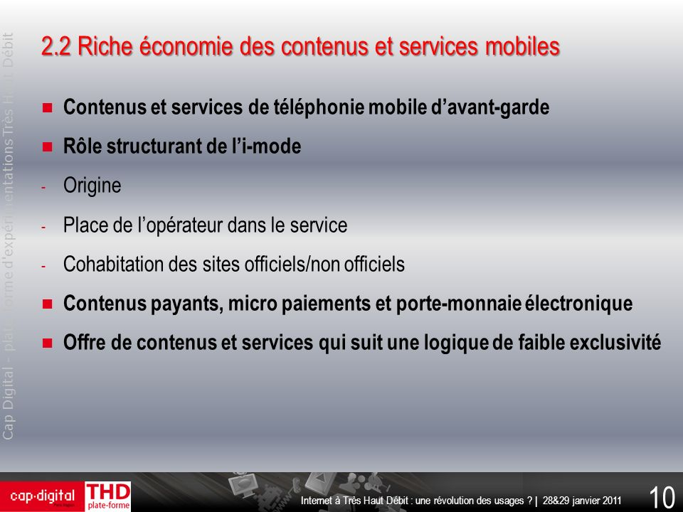 2.2 Riche économie des contenus et services mobiles