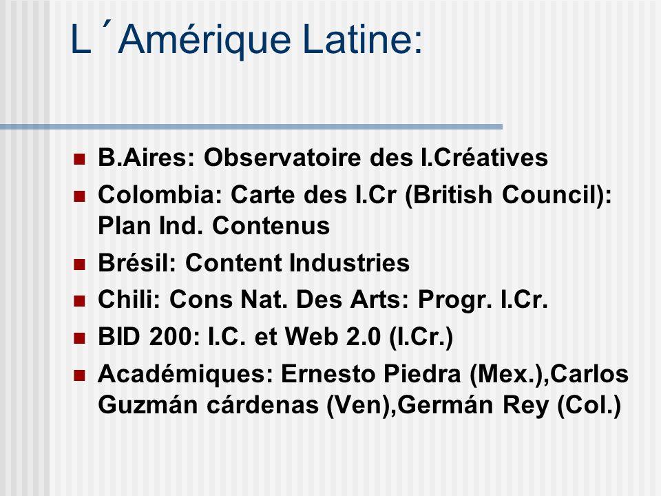 L´Amérique Latine: B.Aires: Observatoire des I.Créatives