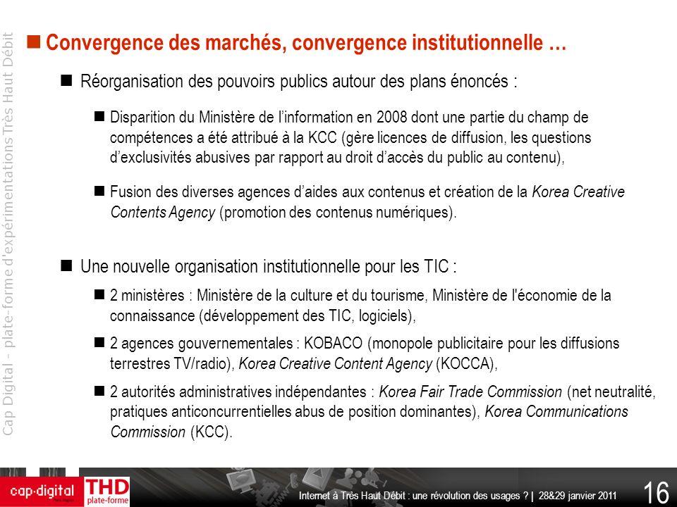 Convergence des marchés, convergence institutionnelle …