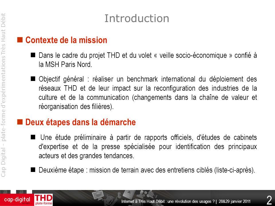 Introduction Contexte de la mission Deux étapes dans la démarche
