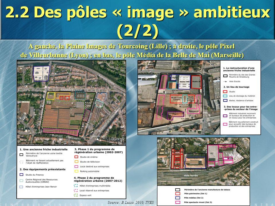 2.2 Des pôles « image » ambitieux (2/2)