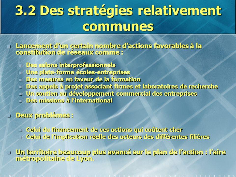 3.2 Des stratégies relativement communes