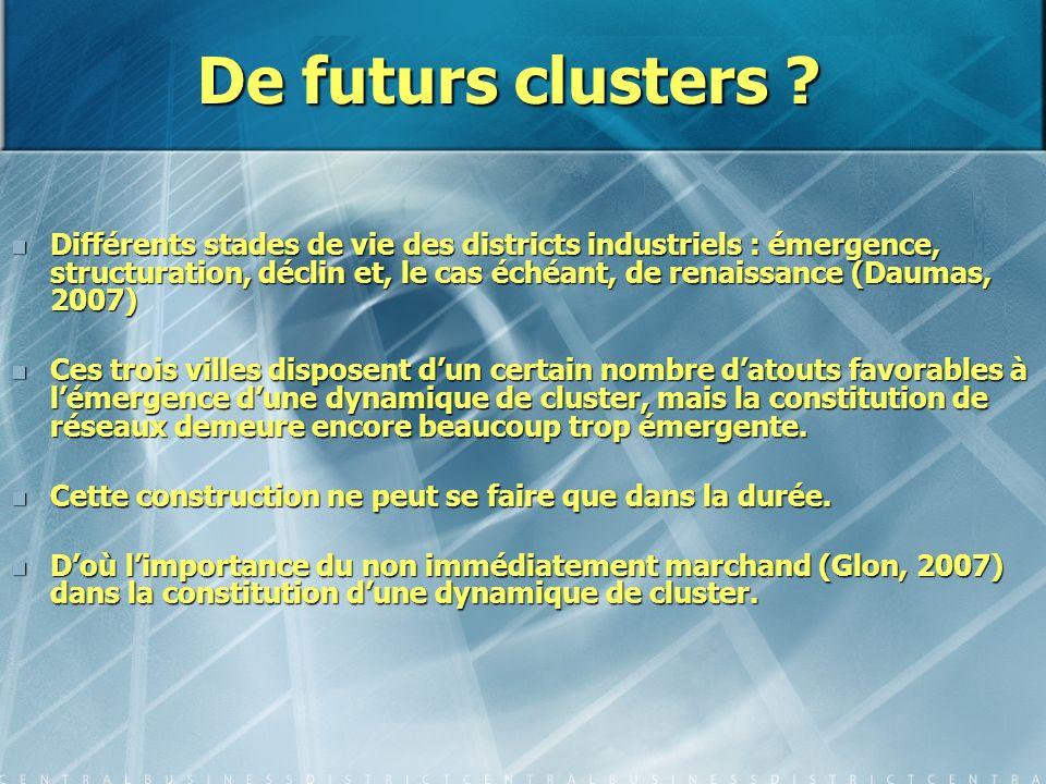 De futurs clusters