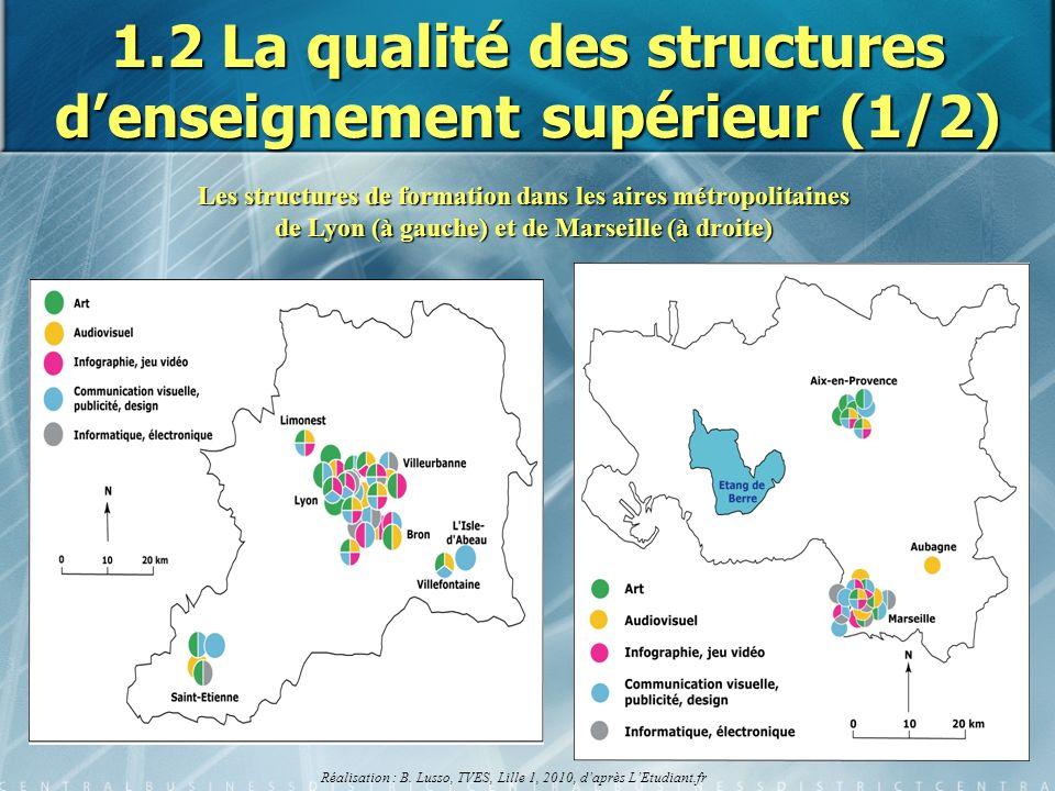 1.2 La qualité des structures d'enseignement supérieur (1/2)