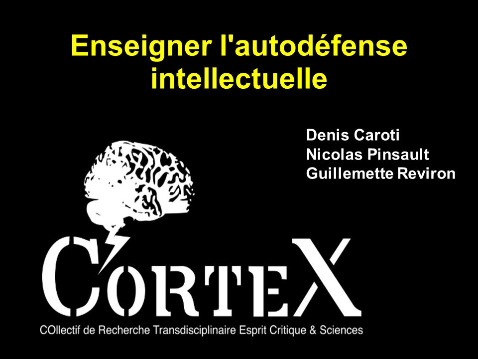 Enseigner l autodéfense intellectuelle