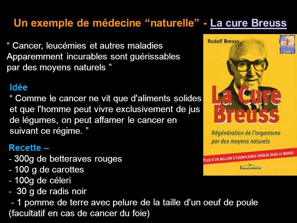 Un exemple de médecine naturelle - La cure Breuss