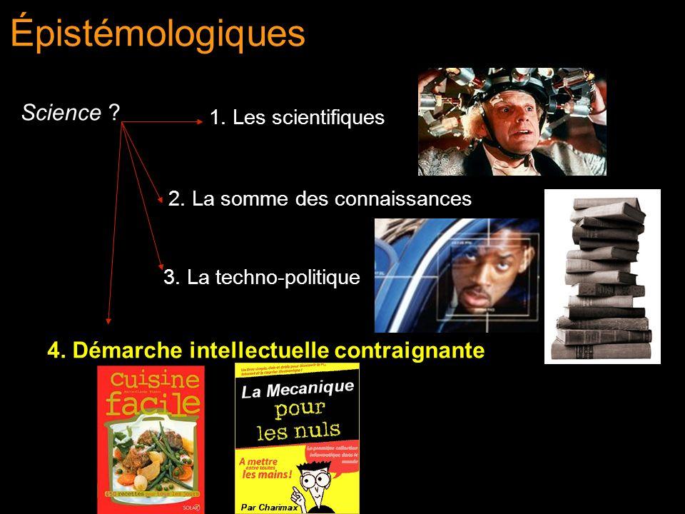 Épistémologiques Science 4. Démarche intellectuelle contraignante
