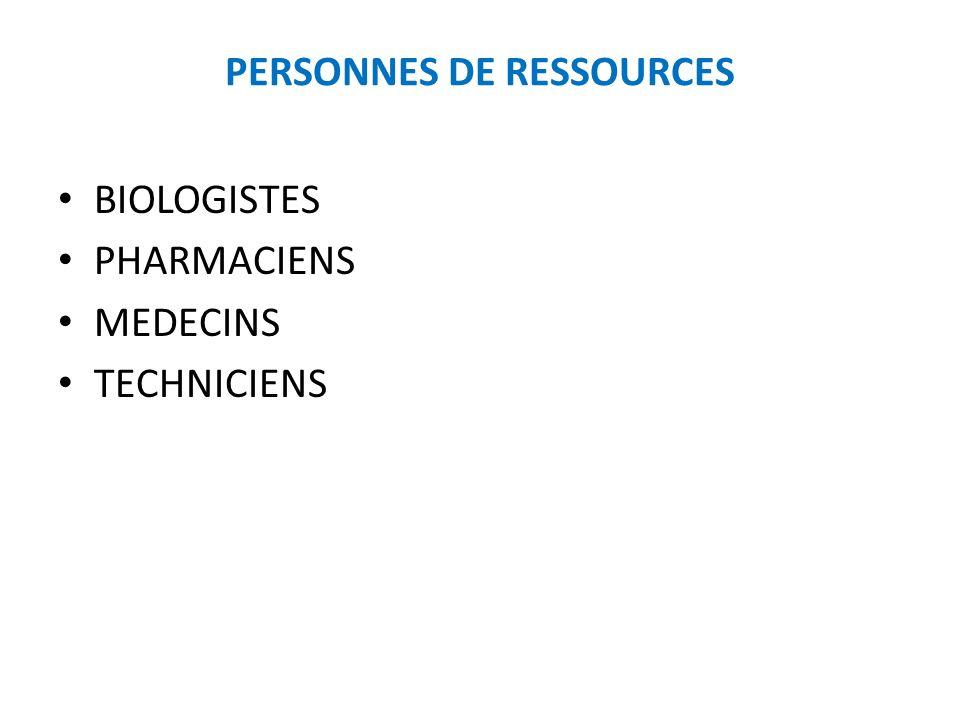 PERSONNES DE RESSOURCES